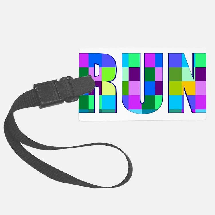 Run Squares Luggage Tag