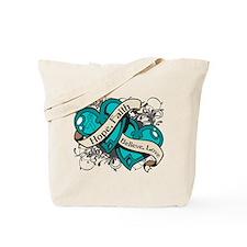 PKD Hope Faith Dual Hearts Tote Bag