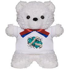 PKD Hope Faith Dual Hearts Teddy Bear