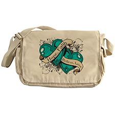 PCOS Hope Faith Dual Hearts Messenger Bag
