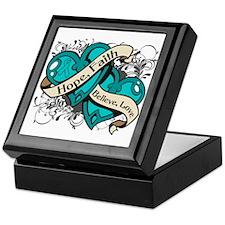 PCOS Hope Faith Dual Hearts Keepsake Box