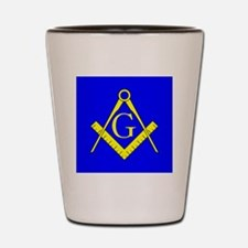 70-50 mm Blue and Yellow Square and Com Shot Glass