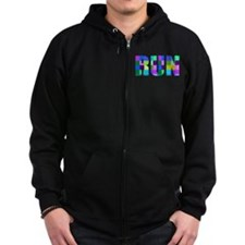Run Squares Zip Hoodie