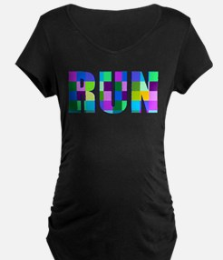 Run Squares Maternity T-Shirt