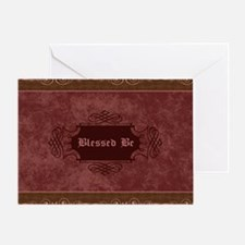 Blessed Be Vintage (Red) Greeting Card