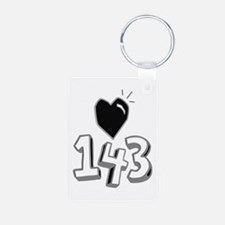 143 means I Love You Keychains