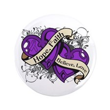 "Pancreatic Cancer Hope Hearts 3.5"" Button (100 pac"