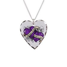 Pancreatic Cancer Hope Hearts Necklace
