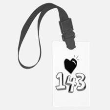 143 means I Love You Luggage Tag