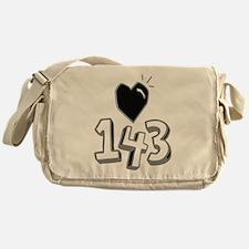 143 means I Love You Messenger Bag