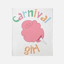Carnival Girl Throw Blanket