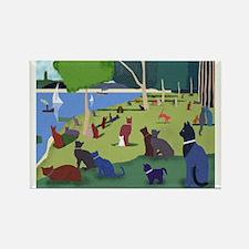 Seurat's Cats Magnet