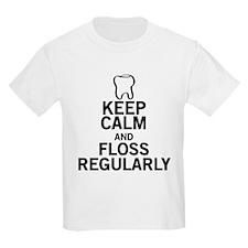 Keep Calm and Floss Regularly T-Shirt