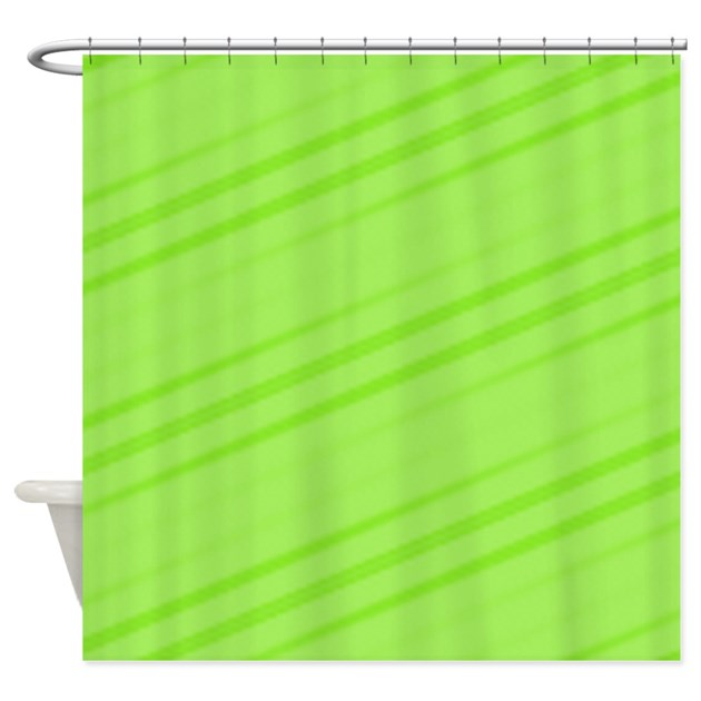 Lime Green Shower Curtain By Coolpatterns
