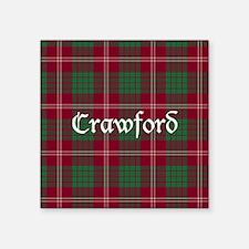 """Tartan - Crawford Square Sticker 3"""" x 3"""""""
