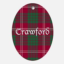 Tartan - Crawford Ornament (Oval)