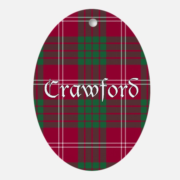 Tartan - Crawford Ornament (Oval)