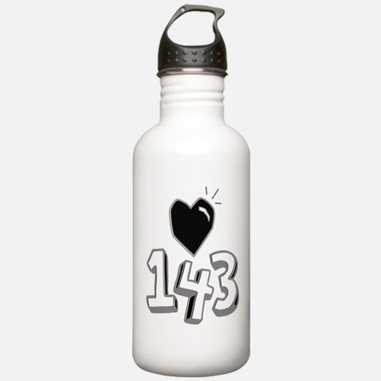 143 means I Love You Water Bottle