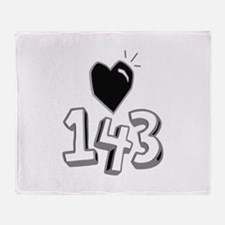143 means I Love You Throw Blanket