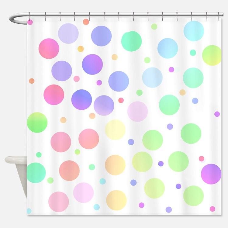 Pastel polka dots Shower Curtain