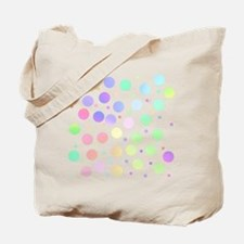 Pastel polka dots Tote Bag