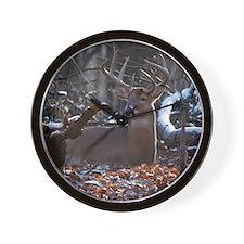 Bedded Buck D1342-021 Wall Clock