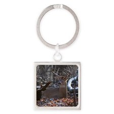 Bedded Buck D1342-021 Square Keychain