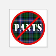 "no-pants-design_light Square Sticker 3"" x 3"""