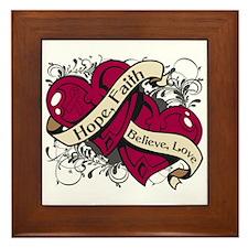 Multiple Myeloma Hope Hearts Framed Tile