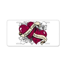 Multiple Myeloma Hope Hearts Aluminum License Plat