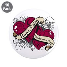 """Multiple Myeloma Hope Hearts 3.5"""" Button (10 pack)"""