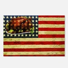Thanksgiving Day Flag Postcards (Package of 8)