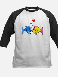 KISSING FISH Kids Baseball Jersey