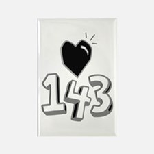 143 means I Love You Magnets