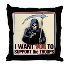 Death Support System Throw Pillow