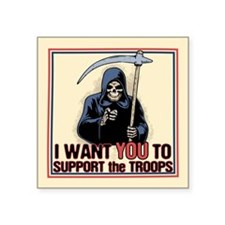 "Death Support System Square Sticker 3"" x 3"""