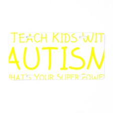teachKidsAutism1E Aluminum License Plate