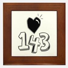143 means I Love You Framed Tile