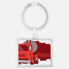Tanker Cement Truck Retro Landscape Keychain
