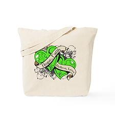Lymphoma Hope Hearts Tote Bag