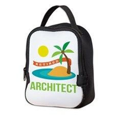 Retired Architect Neoprene Lunch Bag