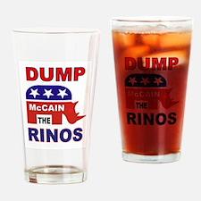DUMP McCAIN Drinking Glass