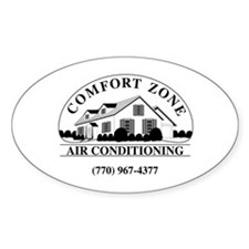 Comfort Zone B&W Decal