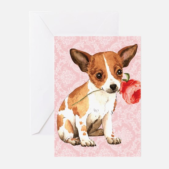 Chihuahua Rose Greeting Cards (Pk of 10)