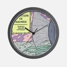 MOUNTAINS OF MADNESS POSTER Wall Clock