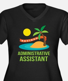 Retired Administrative Assistant Women's Plus Size