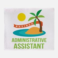 Retired Administrative Assistant Throw Blanket
