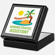 Retired Administrative Assistant Keepsake Box