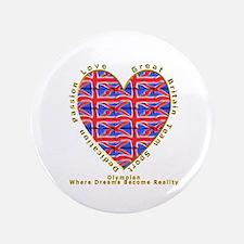 "Olympian GB Heart 3.5"" Button"