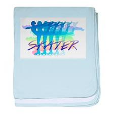 Rainbow Skaters baby blanket
